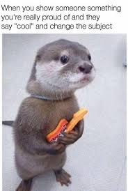 Otter Meme - proud and disappointed otter meme by bolt93 memedroid
