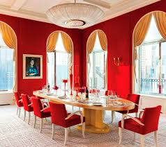 red dining with picasso interiors by color