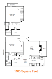 Sycamore Floor Plan 2 Bed 2 Bath Apartment In Dallas Tx The Residence At North Dallas