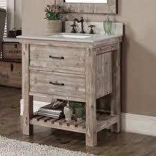 Vanity Colors Rustic Style Carrara White Marble Top 36 Inch Bathroom Vanity