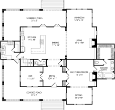 floor plans southern living hearth cottage allison ramsey architects inc southern