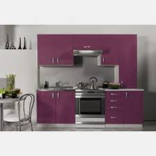 cuisine kit pas cher cuisine équipée de 2m20 oxane aubergine violet laqué pas cher en kit