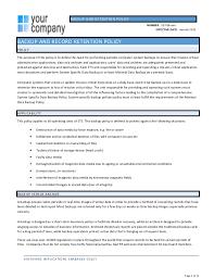 backup policy template julie bozzi oregon
