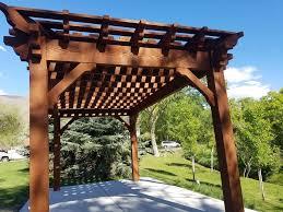 Pergola Rafter End Designs by 12 U0027 X 20 U0027 Rich Sequoia Shadescape Diy Pergola Kit Install