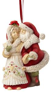 enesco of mr and mrs claus ornament