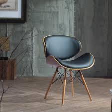 corvus madonna mid century and walnut accent chair ebay