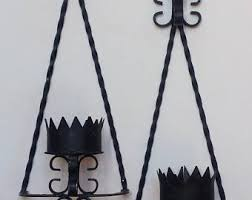 Wrought Iron Candle Wall Sconces Wrought Iron Sconce Etsy