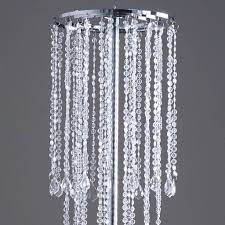 diamond chandelier 36 acrylic diamond chandelier free stand poles efavormart