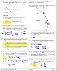 Monochromatic Light Snell U0027s Law Archives Page 2 Of 3 Regents Physics