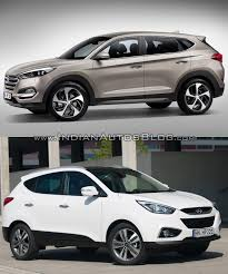 hyundai tucson 2016 white 2016 hyundai tucson vs hyundai ix35 old vs new