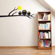 compare prices on diy childrens room online shopping buy low removable childrens nursery owls moon tree vinyl wall stickers kids room decor diy