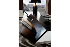 Dark Oak Wood Furniture Office Desks S103 Modern Dark Oak Office Desk W Ledge