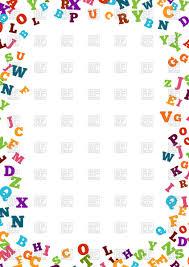 colorful alphabet ornament border vector clipart image 126765