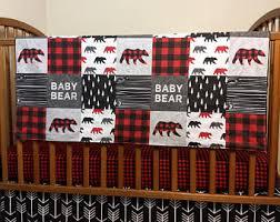 Plaid Crib Bedding Plaid Crib Bedding Etsy