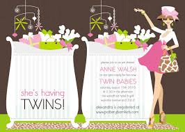 baby shower invitations for twins templates invitations templates