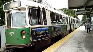 Boston T Map Green Line by Mbta Green Line Trains At Riverside Youtube