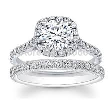 brilliant diamond rings images Brilliant round cut 2 carat simulated diamond halo engagement jpg