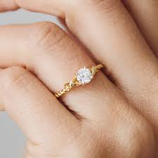 ethical engagement rings non blood diamond rings braided fairtrade ethical diamond
