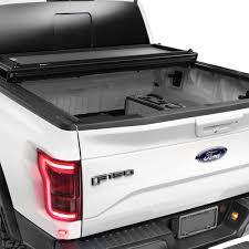 Ford Raptor Truck Bed Accessories - weathertech ford f 150 2017 alloycover hard tri fold pickup