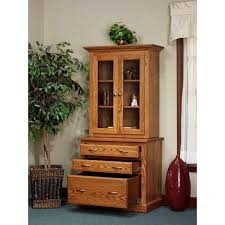 Usa Office Furniture by 816 Hutch 54 816 Amish Oak Office Furniture Made In Usa Outlet