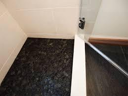 flat black pebble floor tile robinson house decor ideas