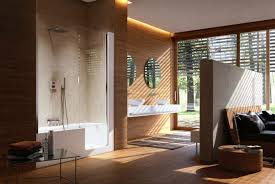 Open Bathroom Design by Designing A Bathroom With Walls Of Wood Orchidlagoon Com