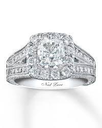 neil engagement neil diamond engagement ring 2 ct tw cushion cut 14k white
