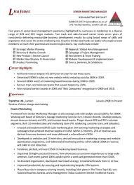 marketing manager resume the australian employment guide