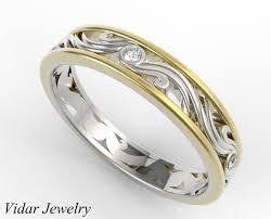 womens diamond wedding bands womens diamond wedding band two tone gold vidar jewelry unique