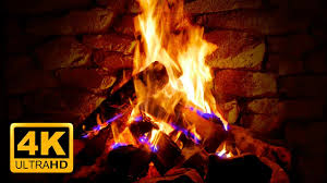 4k relaxing fireplace with crackling fire sounds no music