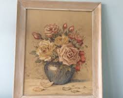 framed floral prints etsy