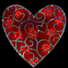 487 best valentines day gifts 12 lighted s day shimmering heart window silhouette
