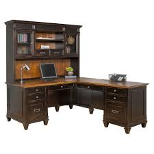 Martin Furniture Hartford LShaped Desk with Optional Hutch