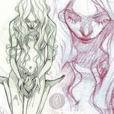 commission broken heart sketch by anja uhren on deviantart