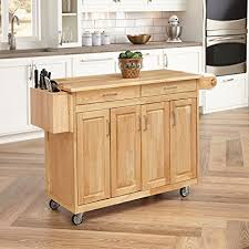 discount kitchen islands with breakfast bar amazon com home styles 5023 95 wood top kitchen cart with breakfast