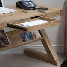 Solid Computer Desk by Opus Solid Oak Z Shape Computer Desk Oak Furniture Uk