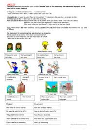 48 free esl past tense used to worksheets for upper intermediate