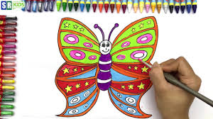 how to draw butterfly easy step by step coloring book and