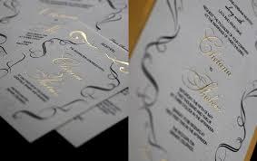 carlton wedding invitations black white and gold wedding invitations matik for