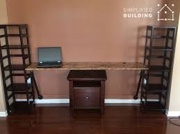 Wall Mount Laptop Desk by Wall Mounted Desks Great For Small Spaces Simplified Building