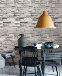 faux stone wallpaper peel and stick stacked stone cultured