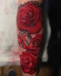 36 best 3 4 sleeve tattoo roses for women images on pinterest