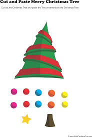 cut and paste christmas tree activity christmas activities with
