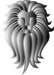 clipart chromatic lion face tattoo 8