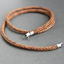 braided leather necklace images Square braid leather cord necklace sterling silver clasp leather jpg
