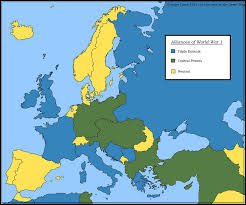 World War 1 Map Of Europe Europe S Military Alliances In World War I 1914 Full Size And Map