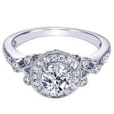 ben garelick royal celebrations engagement ring - Vintage Halo Engagement Rings