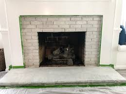 How To Clean A Brick Floor Inside by Diy Lime Washed Brick Fireplace Bless U0027er House