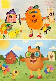 kids u0027 drawings recreated by bright side illustrators