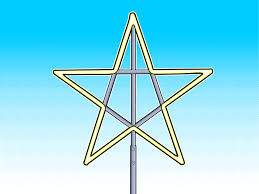 How To String Lights On Outdoor Tree Branches by Make A Large Christmas Star Christmas Stars Christmas Lights